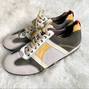 CAMPER lace-up sneaker green yellow red white